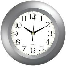 TIMEKEEPER 6409 11 Round Silver Wall Clock - $47.49
