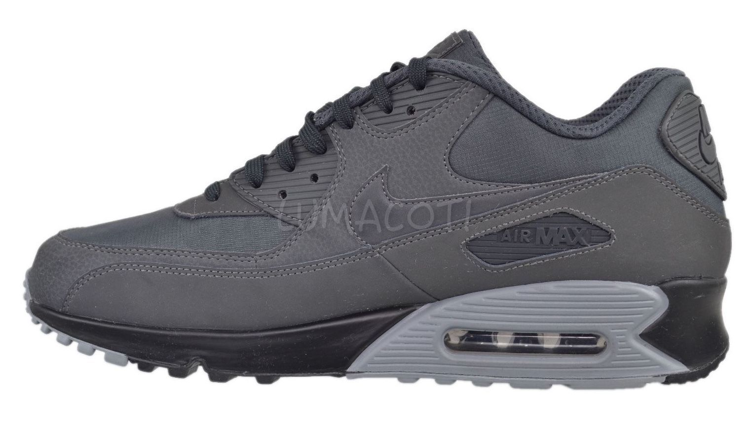 Mens Nike Air Max 90 Essential Anthracite/Black Running Sneakers [537384 059]
