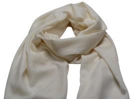 """$430 Gucci Gg Guccissima Silk Wool Scarf Shawl 78"""" X 17"""" Ivory - $227.70"""