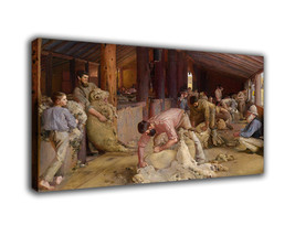 "History Art Oil Painting Print On Canvas Modern Home Decor""Shearing Rams... - $16.54+"