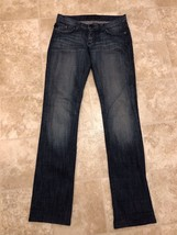 Rock & Republic Womens Size 28 Low Rise Dark Wash Boot Cut Jeans - $19.34