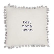 Best Nana Ever Decorative Pillow White Gray Love Button Cotton Corduroy New - $306,08 MXN