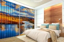 3D Fall Lawn Lake Sky 21 Blockout Photo Curtain Print Curtains Drapes US Lemon - $177.64+