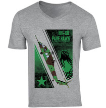 Hh 60 Pave Hawk - New Cotton Grey V-NECK Tshirt - $26.10
