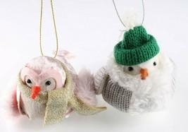 Set of 2 Birchwood Bay Fabric Bird Christmas Ornament Target Wondershop 2018 New image 2