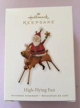 Hallmark Keepsake High Flying Fun Metal Santa Christmas Ornament New In Box - $12.86