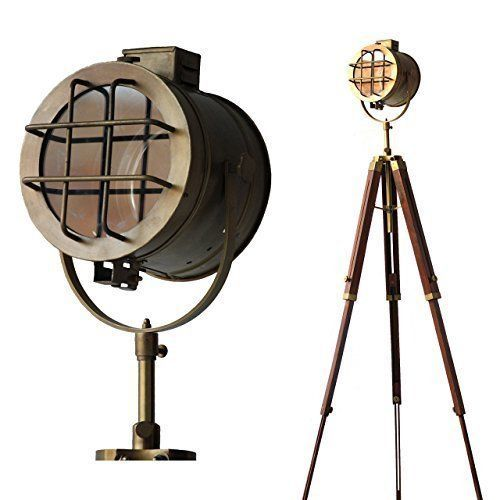 Primary image for NauticalMart Regency Searchlight Focus Floor Lamp Tripod Vintage Spotlight