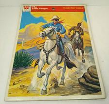 Vintage The Lone Ranger Telaio Vassoio Puzzle 1951 Da Whitman - $18.46