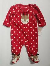 Just One You by Carter's Infant Girls Christmas Raindeer Blanket Sleeper  NB NWT - $9.99