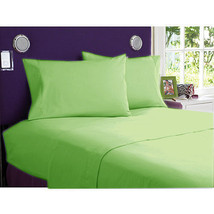 1000TC EGYPTIAN COTTON DUVETS/SHEETS/FITTED/FLAT UK-SIZE SAGE SOLID - $52.01+