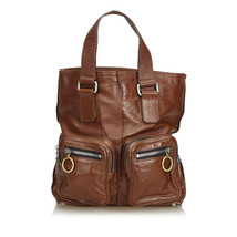 Pre-Loved Chloe Brown Dark Others Leather Betty Tote Bag Italy - $284.24