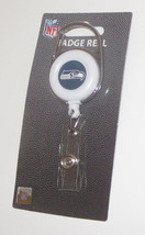 Seattle Seahawks Badge Reel Clip Top Back Snap For ID New NFL  - $14.84