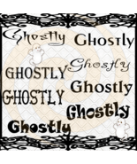 Ghostly Font 1smp-Digital ClipArt-Gift Tag-T shirt-Jewelry-Holiday-Hallo... - $2.50