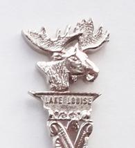 Collector Souvenir Spoon Canada Alberta Banff Lake Louise Bull Moose Fig... - $6.99