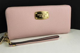Michael Kors Jet Set Travel quilted Continental wallet wristlet Black - $110.00