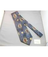 Robert Talbott Omaggio Silk Tie Blue Black Yellow Red Abstract Gorgeous ... - $19.99