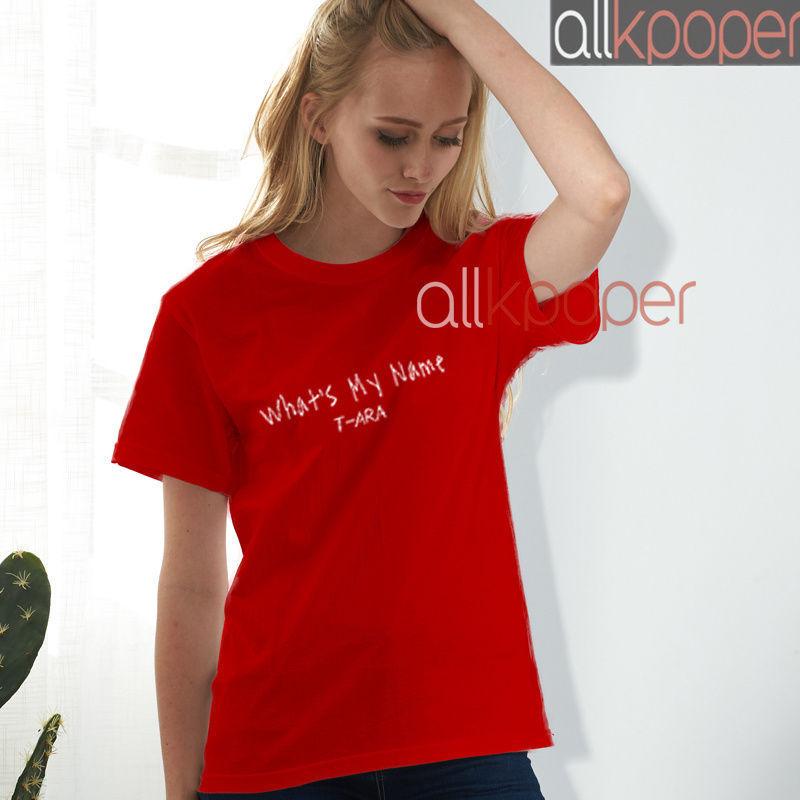 KPOP T-ara T-shirt What's My Name Album Tshirt 2017 New Unisex Casual Tee Tops