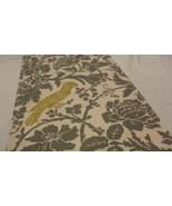 "Super Sale BIRD DAMASK RUNNER Grey-TAupe Leafy  Damask Table Runner 13"" ... - $12.50"