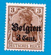 Mint Belgium Postage Stamp (1914) German Occupation Overpinted - Scott N1 - $3.99