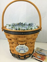 Longaberger Daisy Basket Blue Floral Fabric Insert Plastic Liner Protect... - $19.30
