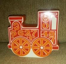 Vintage Carlton Ware England Number Train Ceramic Piggy Bank orange red ... - $49.99