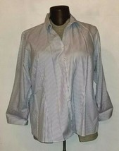 Lands End Long Sleeve Button Down Striped Shirt Plus Size 24 - $9.99