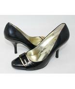 GUESS USA Black Patent Gold Buckle High Heels Dress Pumps Shoes 6M 6 - $14.03