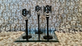 Partylite Forbidden Fruit Candle Holders w/Mirr... - $35.00
