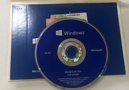 Microsoft Windows 8.1 PRO 64Bit DVD & Product Key NEW SEALED +FREE SHIPP... - $69.99
