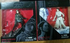 NEW Set of 2 Star Wars Rey & Sergeant Jyn Erso Figurine Black Series - F... - $19.99
