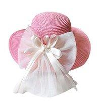 Children Folding Beach Hat UV Girls Summer Sunscreen Large Brimmed Hat Child