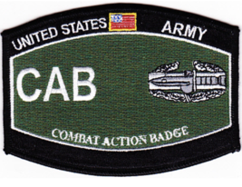 "4.5"" Army Combat Action Badge Mos Desert Embroidered Patch - $23.74"
