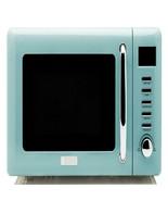 Haden Cotswold Vintage Retro 0.7 Cu Ft 800W Countertop Microwave Oven, Blue - $271.98