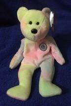 Ty Beanie Babies 1999 BB Birthday Bear Pastel Tie Dye PE Tag Excellent - $1.90