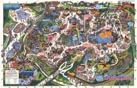 1992 Astroworld Map Poster 24 X 36 Inches Looks Beautiful Nostalgia Houston - $19.94