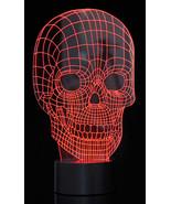 3D Optical Illusion LED Skull 7 Color Changing Light Night USB Lamp Hall... - $14.44
