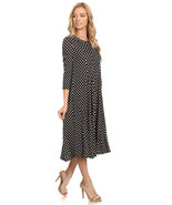 Black Polka Dot Dress - Small - $29.99