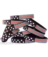 Thin Red Line USA Flag Wristband bracelet Set for Firefighter Support Wh... - £1.07 GBP+