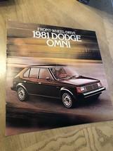 1981 DODGE OMNI Dealer Sales Brochure/Catalog with Color Chart: Euro-Sedan VTG - $7.39