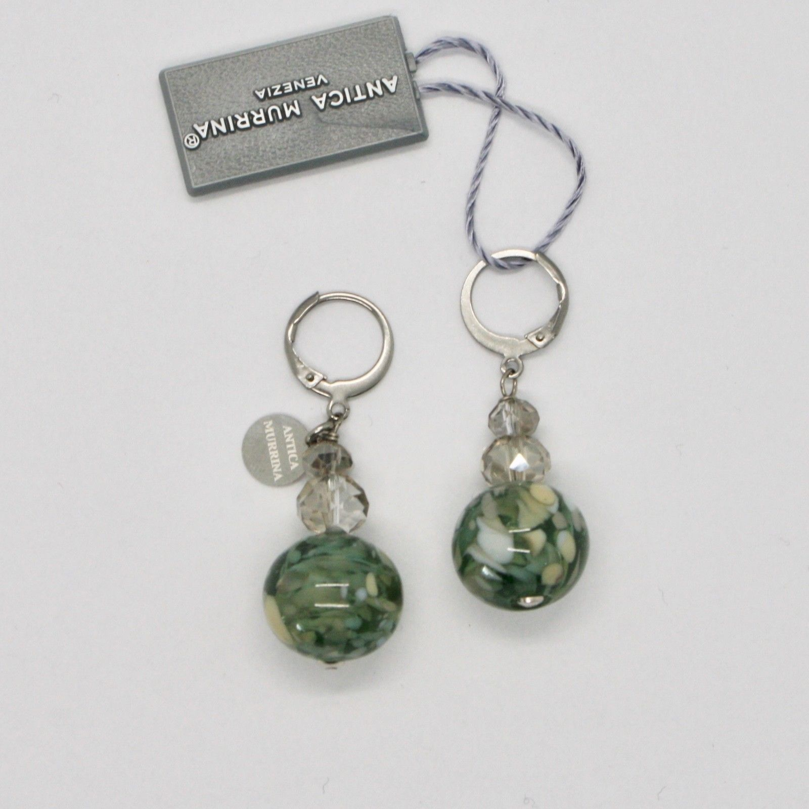 ANTICA MURRINA VENEZIA EARRINGS WITH MULTICOLOR MURANO GLASS AND STEEL OR584A34