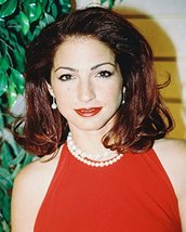 Gloria Estefan Candid In Red Topcolor 16X20 Canvas Giclee - $69.99