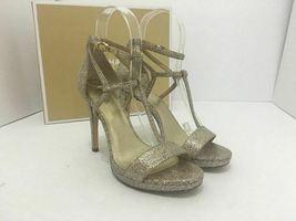 Michael Kors Simone Women Evening Platform High Heels Sandals 6.5 Silver Glitter image 12