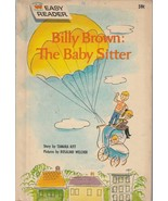 Billy Brown The Baby Sitter by Tamara Kitt 1962 Wonder Book Easy Reader - $11.87