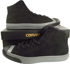 Converse Jack Purcell JP JACK MID Black Suede Leather 149924C (Men's 10.5) - $63.00