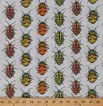 Cotton Bugs Beetles Insects Kids Nature Cotton Fabric Print by the Yard ... - $10.95