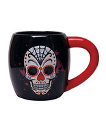 Day of the Dead Multicolor 14 oz Ceramic Skull Image Mug Dia de los Muer... - $18.37
