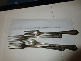 1935 Oneida Comminity AA Fiesta Pattern Forks , Lot of 4 - $19.80