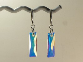 Swarovski Dangle Earrings /AB/ 925 Sterling / w/Swarovski Elements / USA - $20.95+