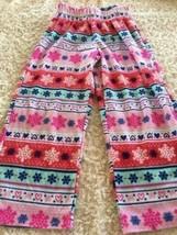 Xhilaration Girls Red White Pink Teal Snowflakes Fleece Pajama Pants Sma... - $5.00