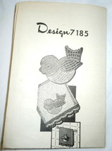 Vintage Design Pattern #7185 Crocheted Motif & Edging  1960s - $3.99